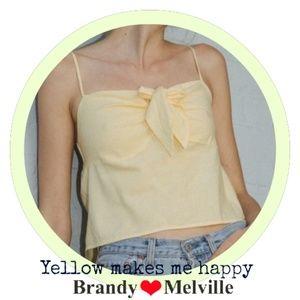 New! Brandy Melville yellow Sasha Tank